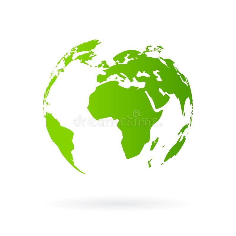 绿色图标行星 向量例证