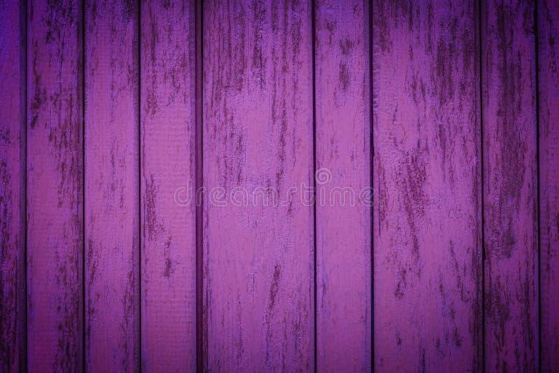 紫色土气木板条 免版税库存图片
