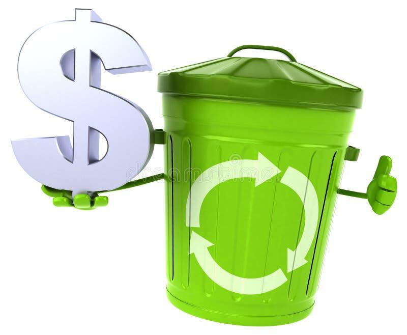 绿色垃圾 向量例证