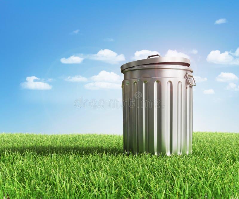 绿色塑料垃圾 库存图片