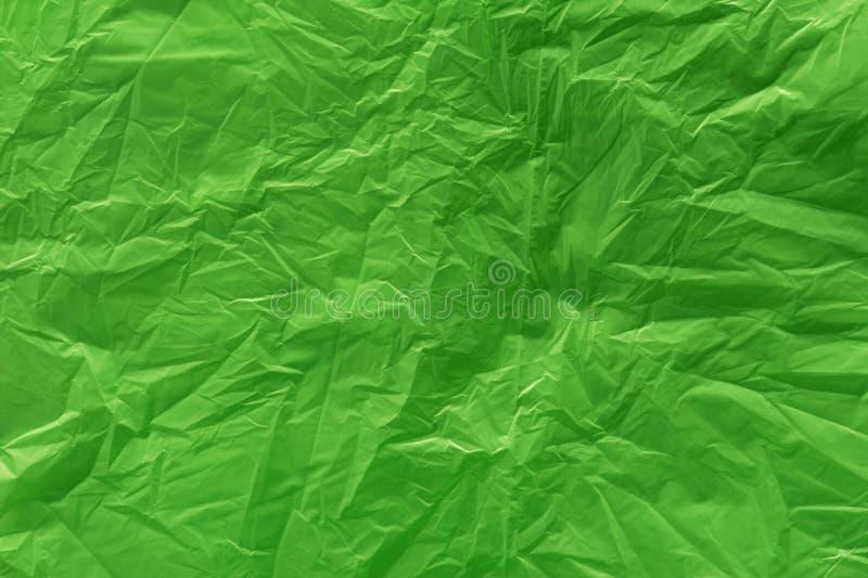 绿色塑料袋纹理 免版税库存图片