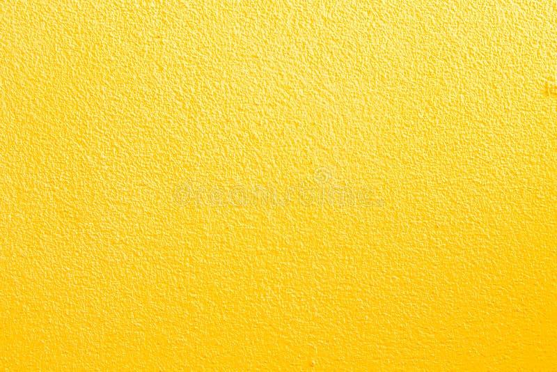 黄色墙壁背景 免版税库存图片
