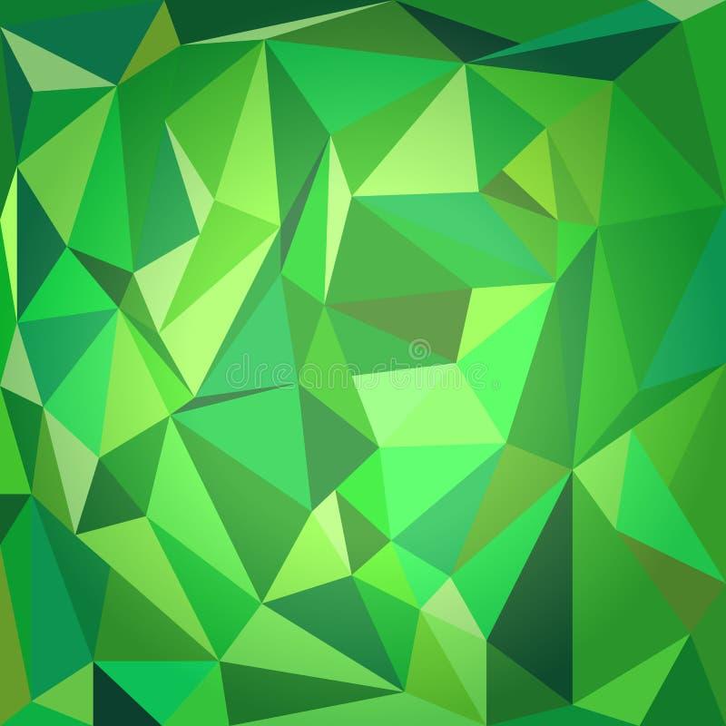 绿色多角形背景 免版税库存图片