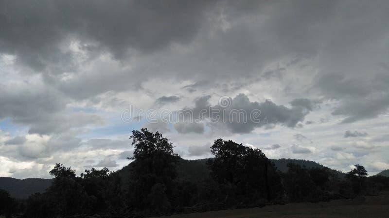 黑色天空 库存照片