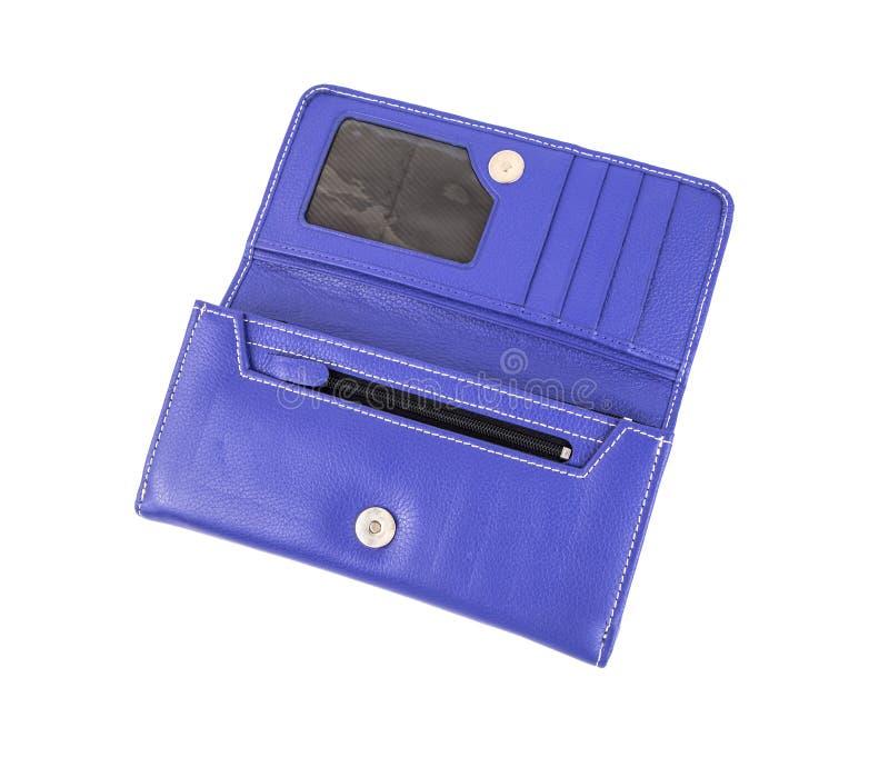 紫色妇女钱包 免版税库存照片