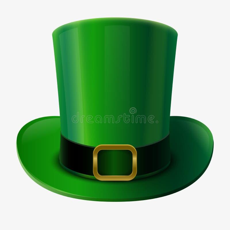 绿色妖精帽子 库存例证