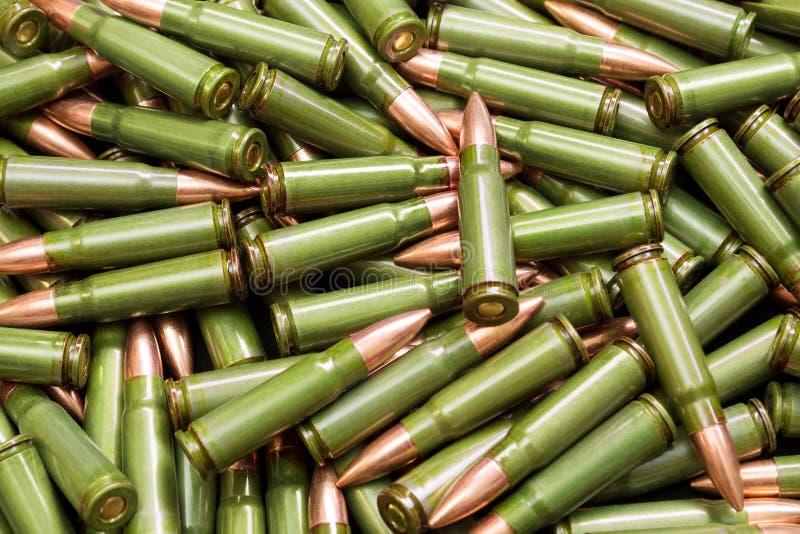 绿色子弹 库存照片