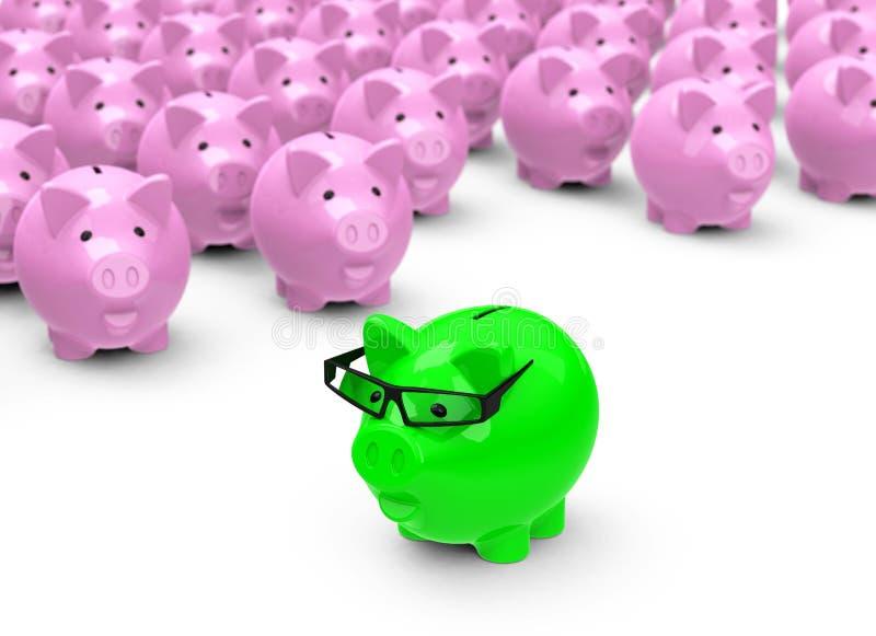 绿色存钱罐 库存例证
