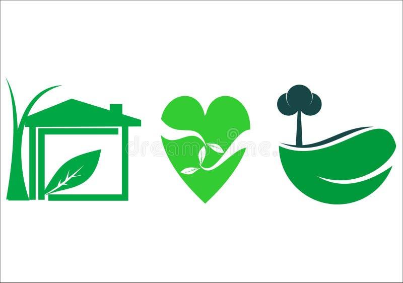 绿色家庭健康 库存图片
