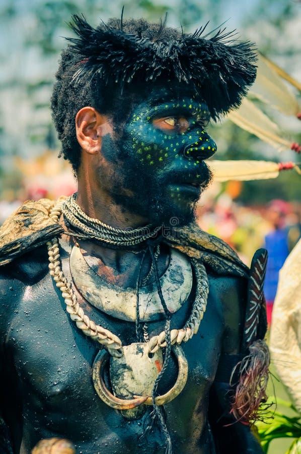 黄色小点在巴布亚新几内亚 库存照片