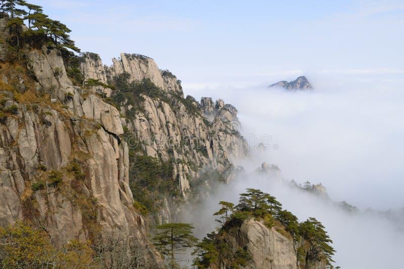 黄色山-黄山,中国 库存照片
