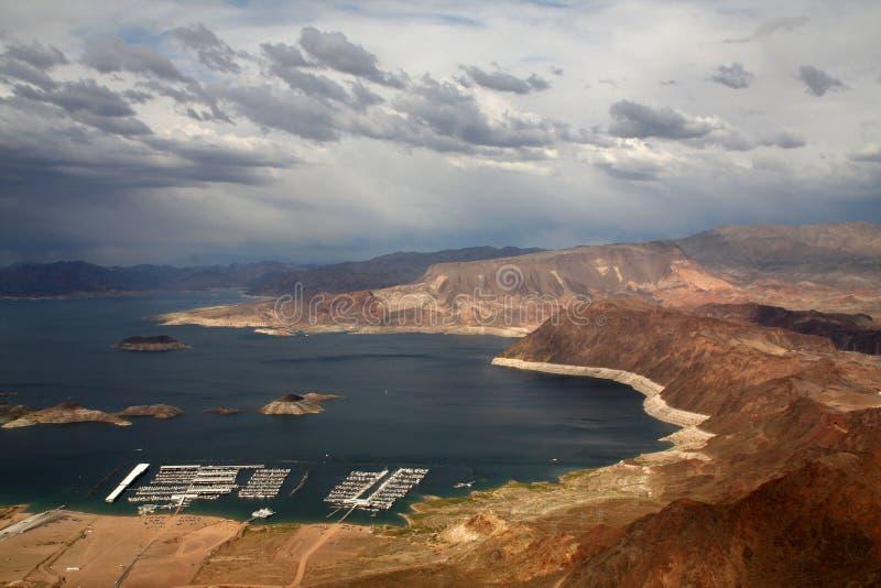 黑色峡谷水坝真空吸尘器塔 库存照片