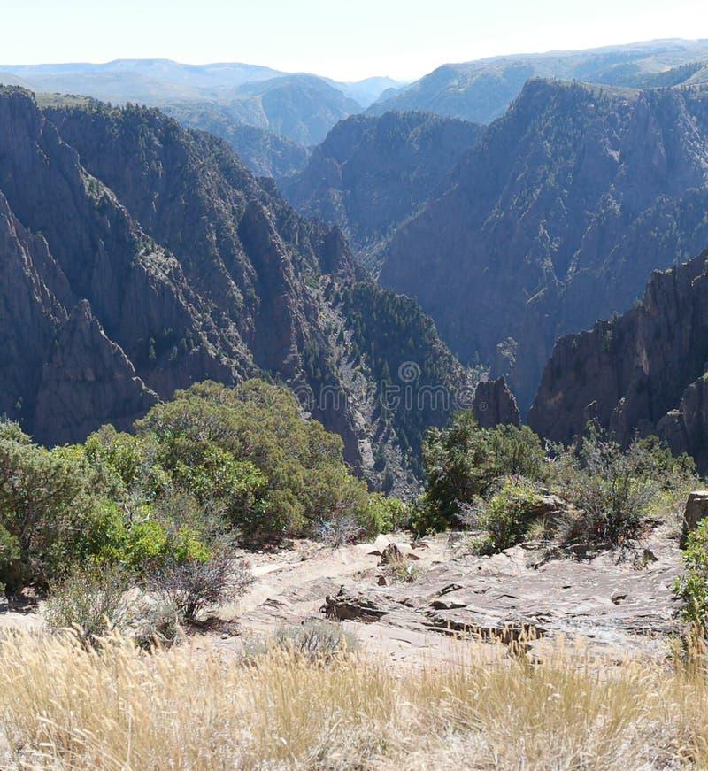 黑色峡谷gunnison国家公园 图库摄影