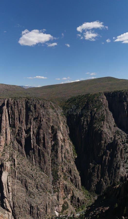 黑色峡谷gunnison国家公园 免版税库存图片