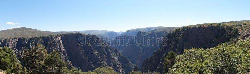 黑色峡谷gunnison国家公园 库存照片