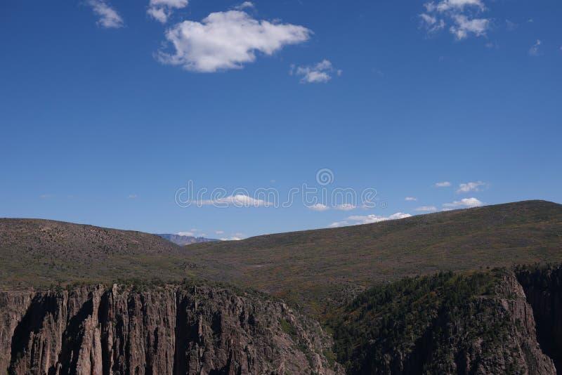 黑色峡谷gunnison国家公园 免版税库存照片