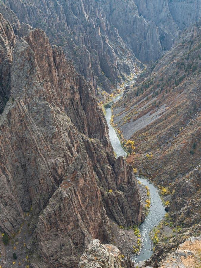 黑色峡谷gunnison 免版税图库摄影