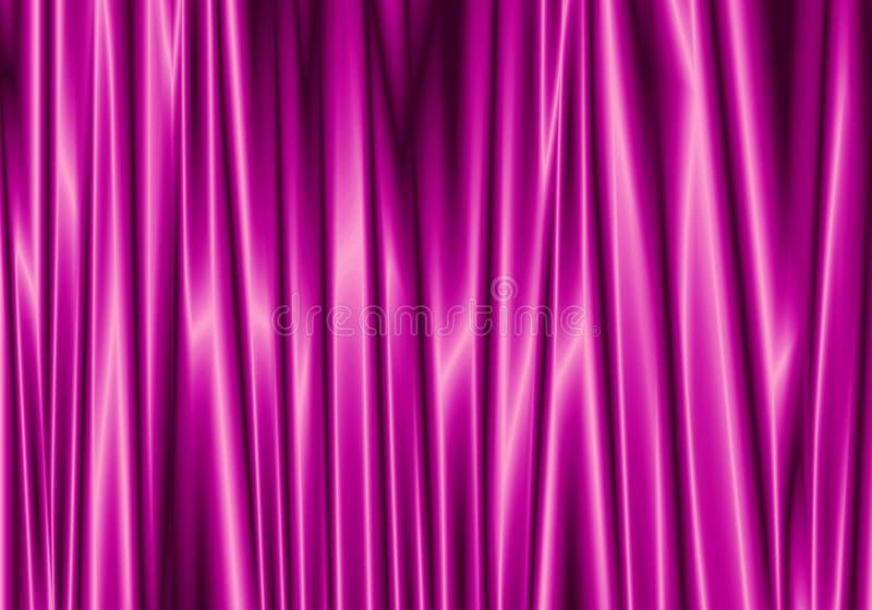 紫色帷幕反射与在背景的亮点 库存例证