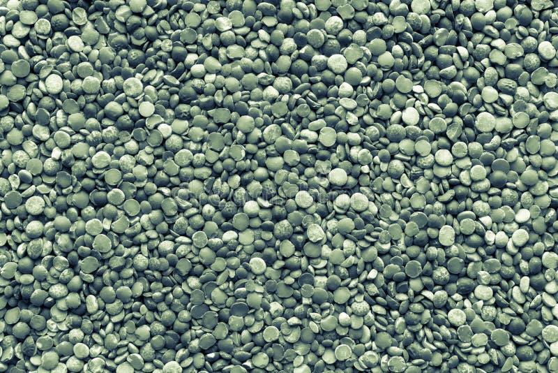 绿色干切细的豌豆  免版税库存照片