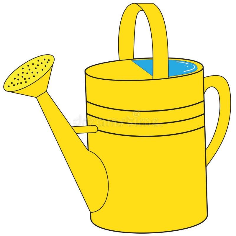 黄色庭院喷壶 皇族释放例证
