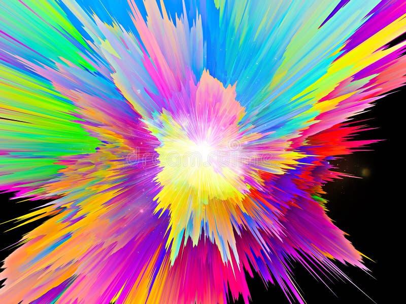色彩生成 库存例证
