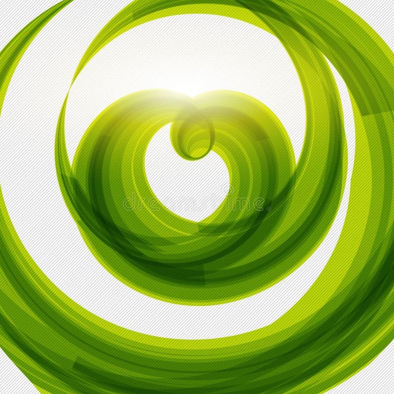 绿色心脏形状eco友好的背景 皇族释放例证