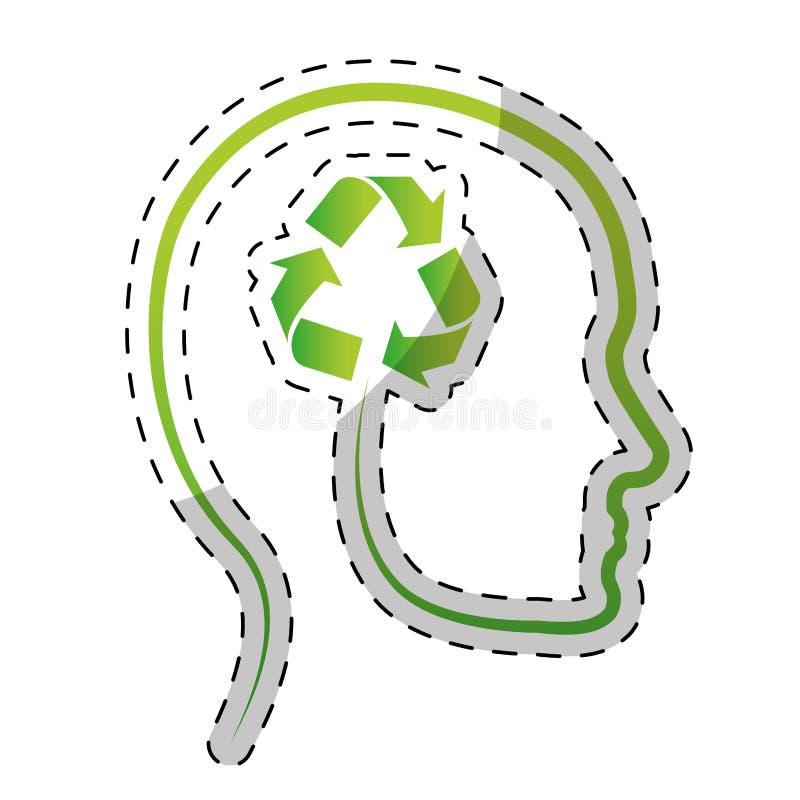绿色思想体系清洗世界象 向量例证
