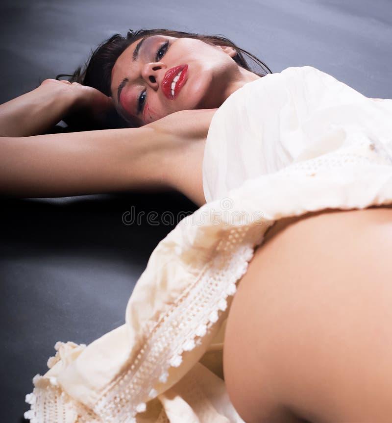 色情女孩 免版税库存照片