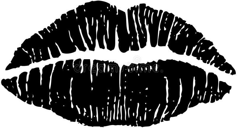 色情的嘴唇 库存例证