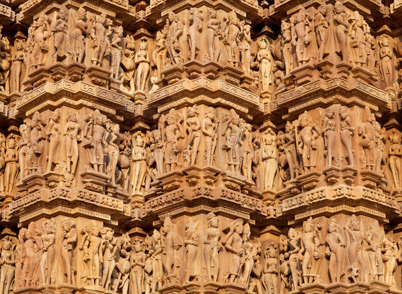 色情著名印度khajuraho寺庙 免版税库存图片