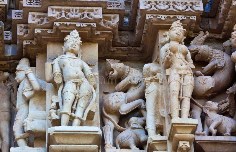 色情著名片段khajuraho寺庙 库存照片