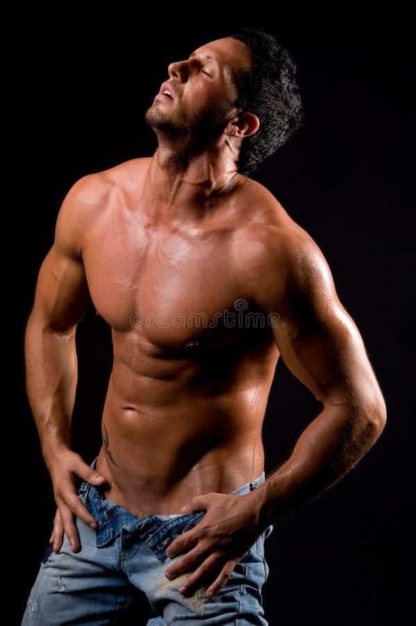 Download 色情 库存照片. 图片 包括有 男子气概, 色情地, 牛仔裤, 胸骨, 肉欲上, 腹部, 色情, 赤裸上身 - 15676210