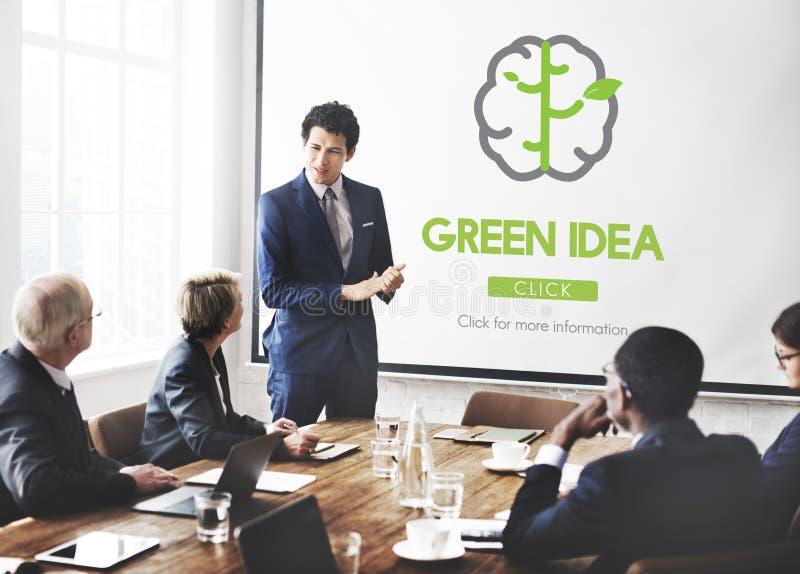 绿色想法保护保护自然概念 库存图片