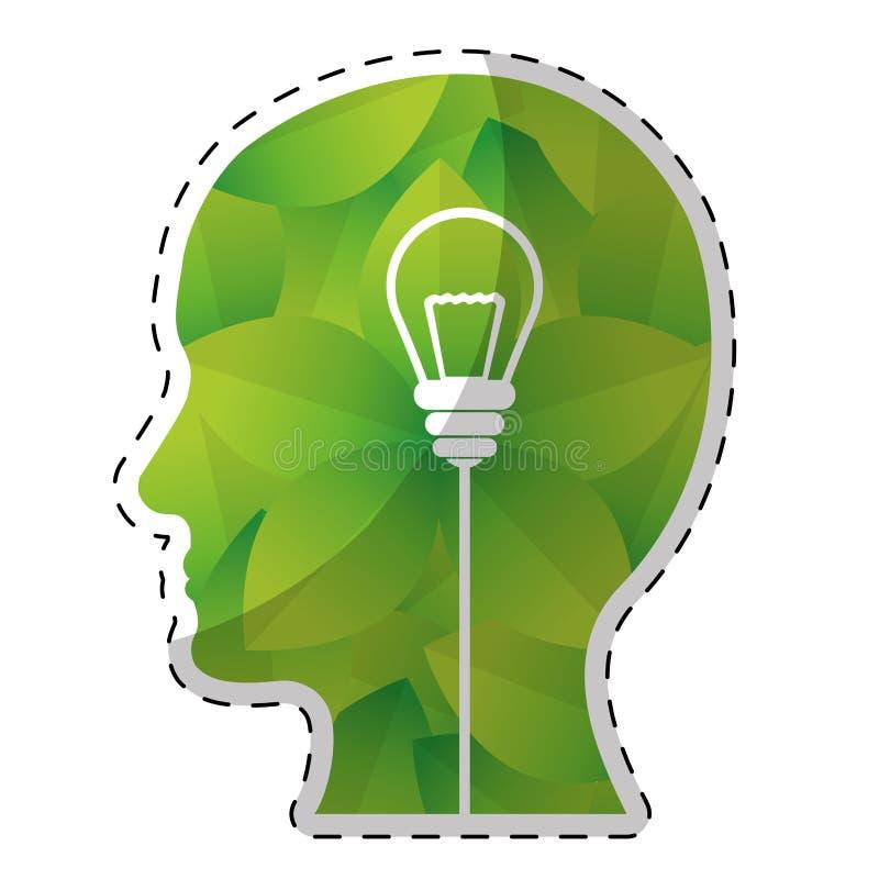 绿色想法和思想体系图象设计 库存例证