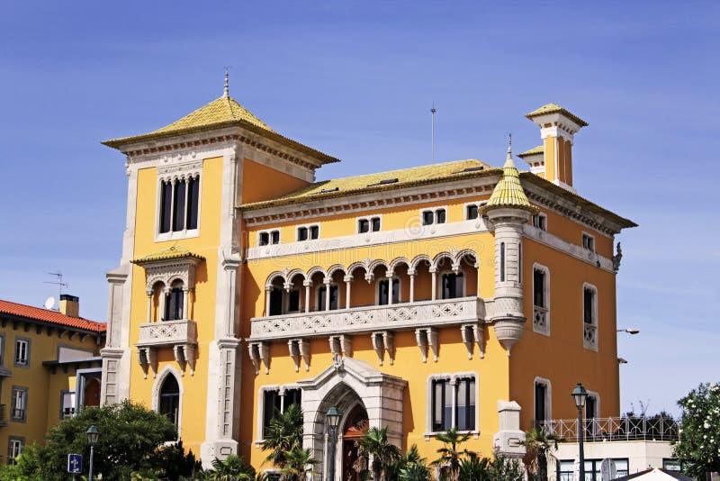 黄色房子 库存照片