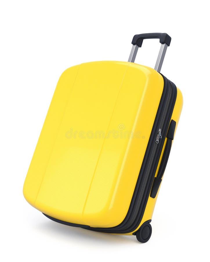 黄色手提箱 免版税库存图片