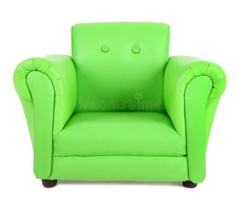 绿色扶手椅子 库存图片