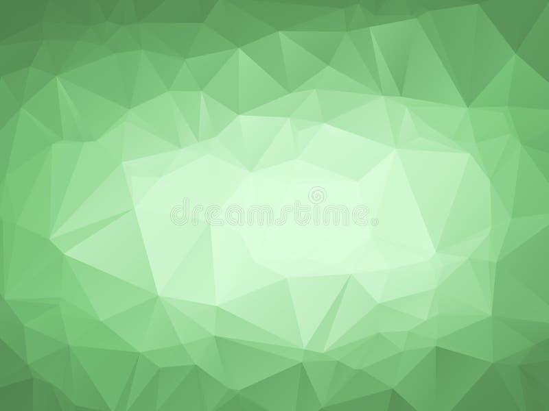 绿色抽象多角形几何 免版税库存图片