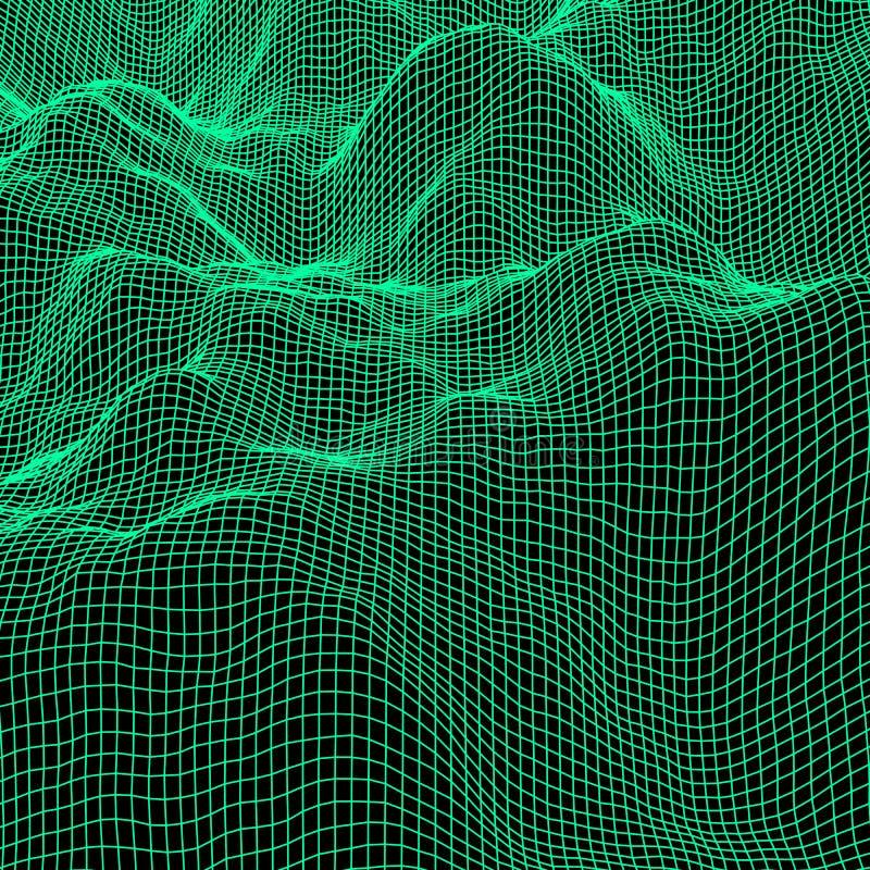 绿色抽象多角形背景 皇族释放例证