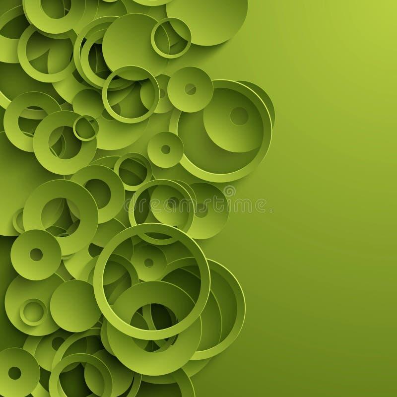 绿色抽象模板 库存例证