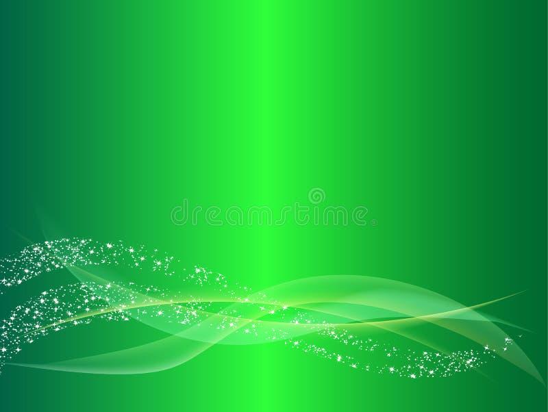 绿色抽象波浪线背景 免版税库存图片
