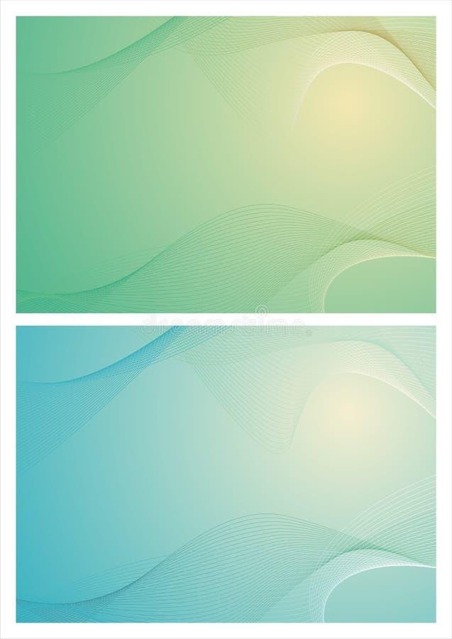 绿色抽象波浪背景 库存照片