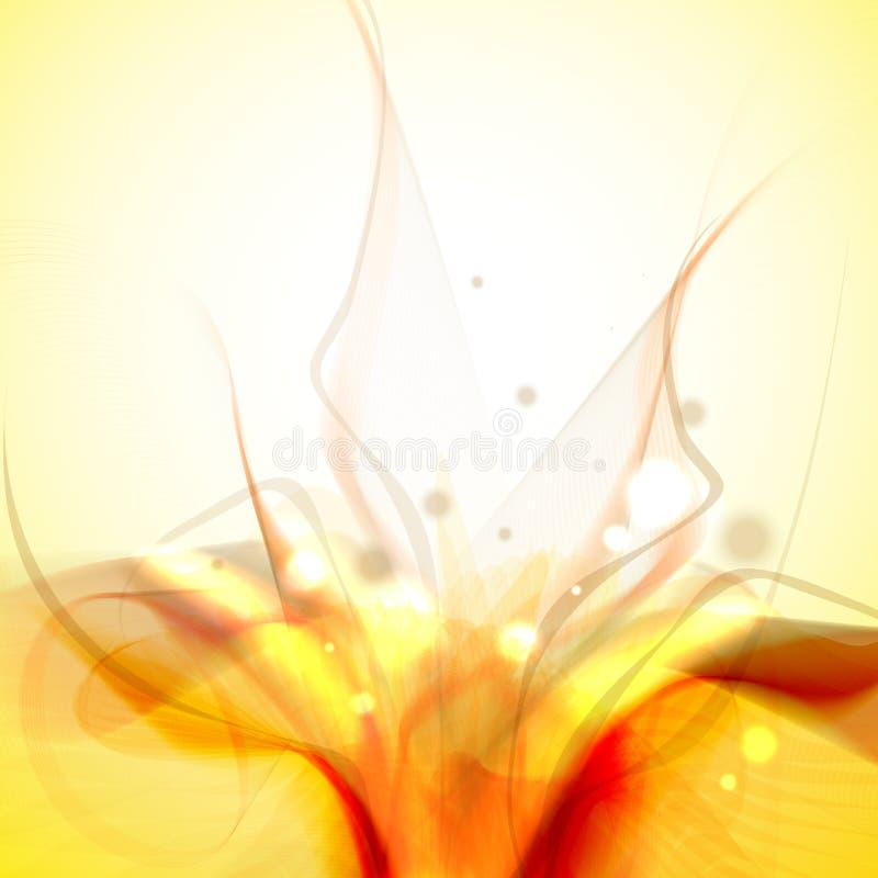 黄色抽象背景。 库存例证