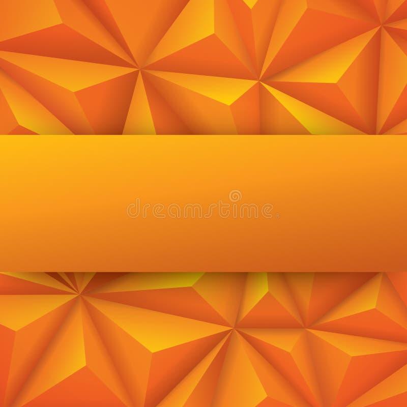 黄色抽象背景传染媒介 皇族释放例证