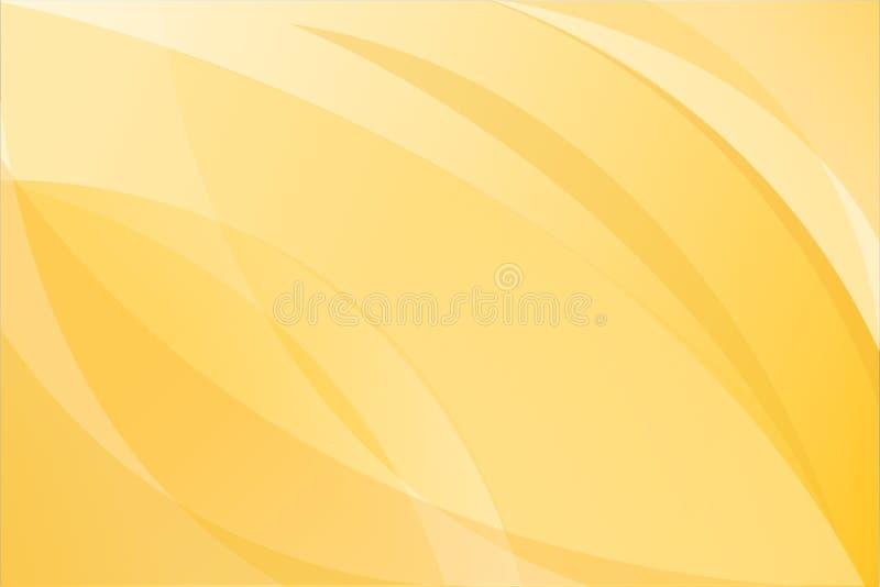 黄色抽象背景传染媒介 向量例证