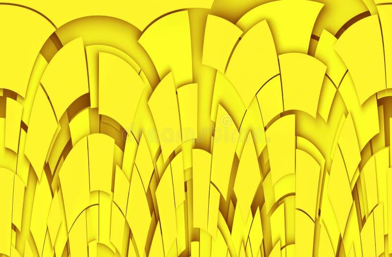黄色抽象背景 皇族释放例证
