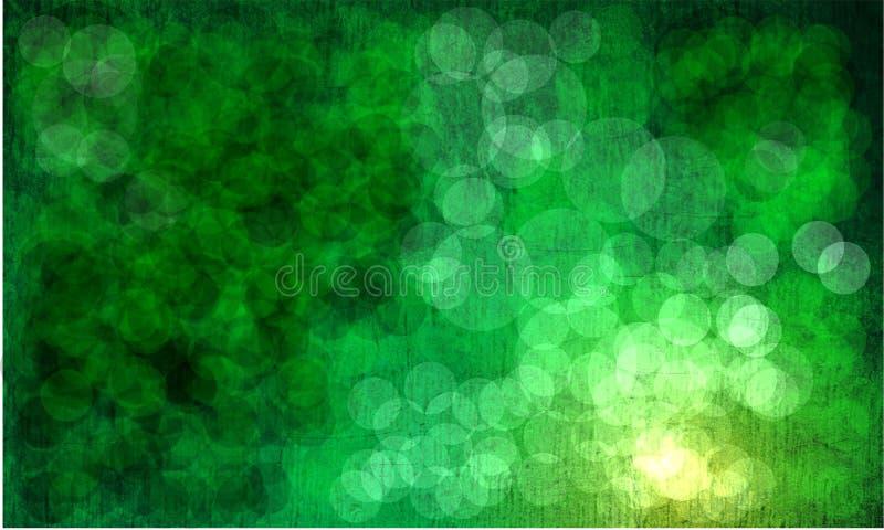 绿色抽象背景bokeh 库存图片