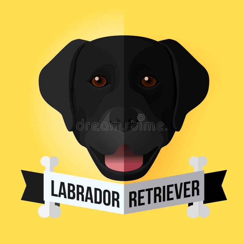黑色拉布拉多猎犬 库存例证