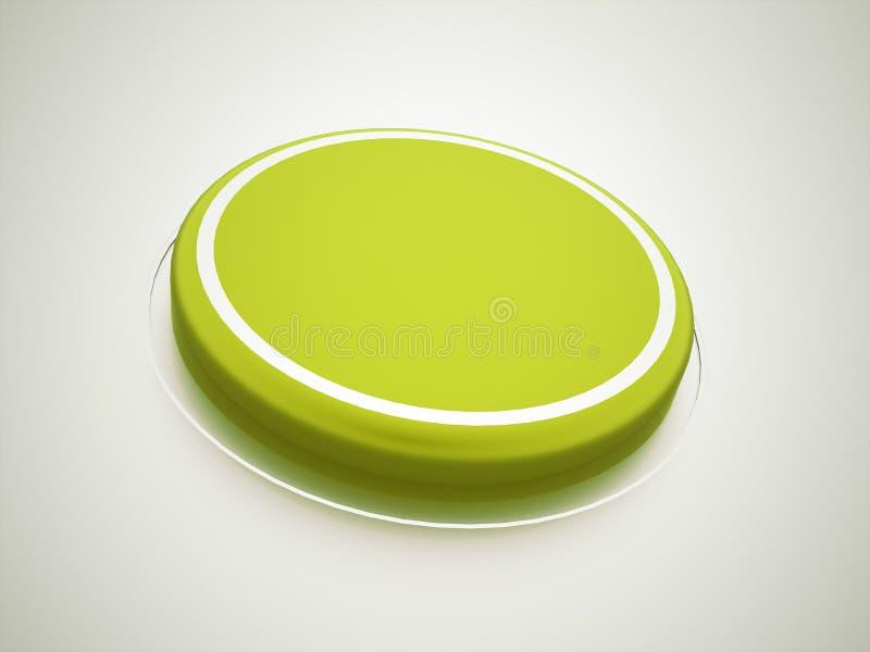 绿色按钮 向量例证