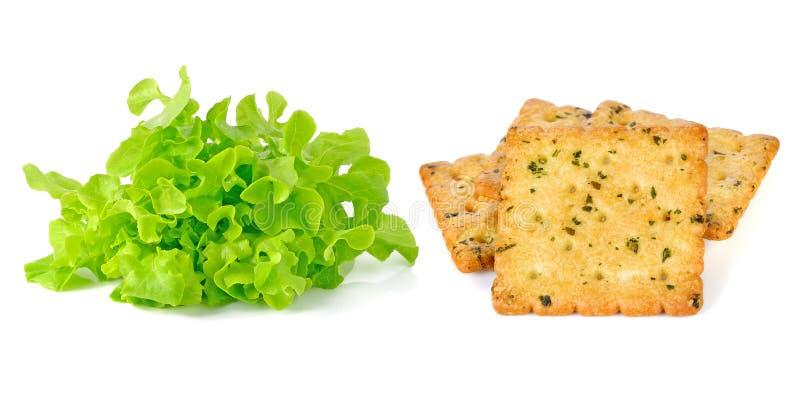 Download 绿色散叶莴苣和薄脆饼干 库存照片. 图片 包括有 食物, 制动手, 美食, 绿色, browne, 可口 - 59107866